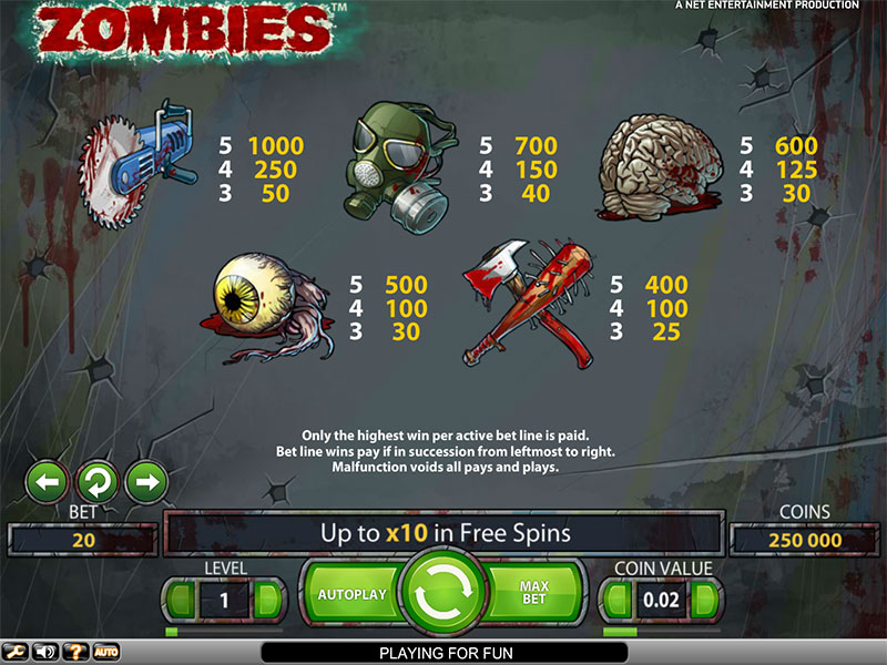 Zombies Slot Best -32461